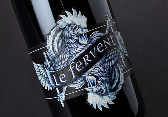 Le Fervent label design